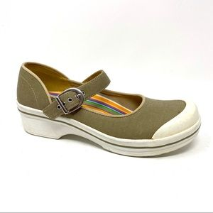 Dansko Valerie sand canvas Mary Jane Work shoes